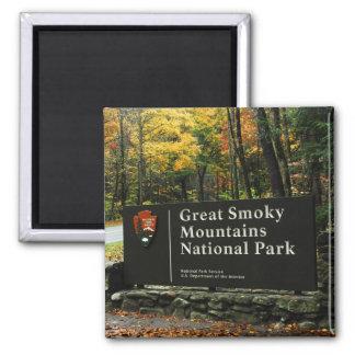 Muestra del otoño del parque nacional de Great Smo Imán Cuadrado