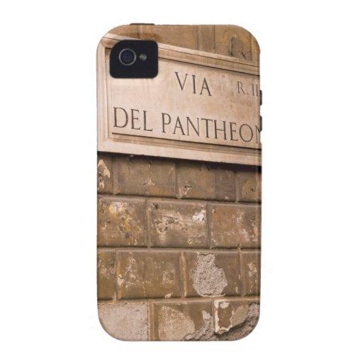Muestra del panteón, Roma, Italia 2 Case-Mate iPhone 4 Funda