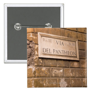 Muestra del panteón, Roma, Italia 2 Pin Cuadrada 5 Cm
