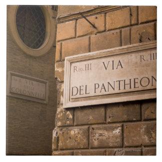 Muestra del panteón, Roma, Italia Azulejo Cuadrado Grande