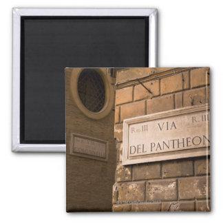 Muestra del panteón, Roma, Italia Imán Cuadrado