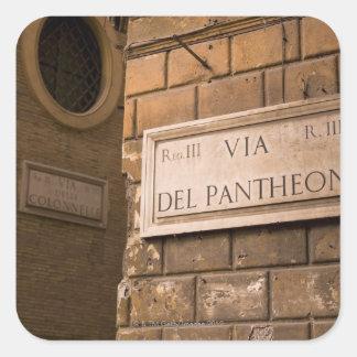 Muestra del panteón Roma Italia Pegatinas Cuadradas