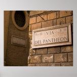 Muestra del panteón, Roma, Italia Posters