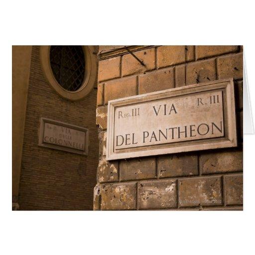 Muestra del panteón, Roma, Italia Felicitacion