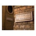 Muestra del panteón, Roma, Italia Tarjetas Postales