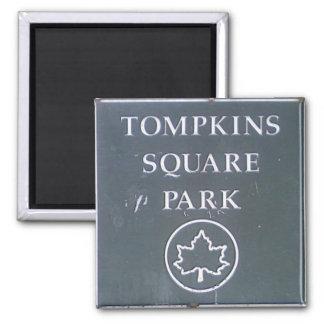 Muestra del parque cuadrado New York City de Tompk Imán De Frigorifico