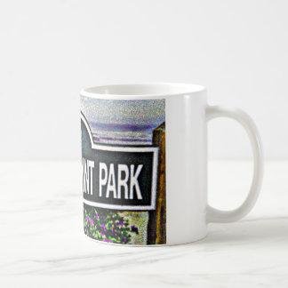 Muestra del parque del punto de los amantes taza