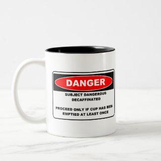 Muestra del peligro de Decaffinated Tazas De Café