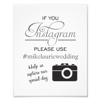 Muestra del poster del boda de Instagram - gris de Fotografías