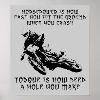 Muestra del poster del motocrós de la bici de la