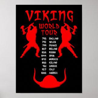 Muestra del poster del viaje del mundo de Viking