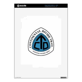 Muestra del rastro de la divisoria continental, iPad 2 calcomanías