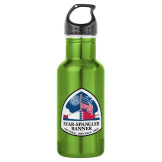 Muestra del rastro del himno americano, los botella de agua de acero inoxidable