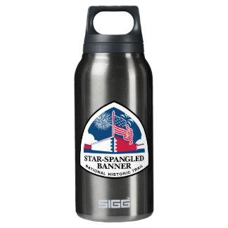 Muestra del rastro del himno americano, los botella isotérmica de agua