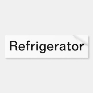 Muestra del refrigerador etiqueta de parachoque
