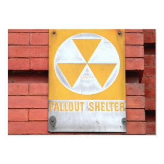 """Muestra del refugio de polvillo radiactivo invitación 5"""" x 7"""""""