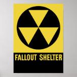 Muestra del refugio de polvillo radiactivo póster