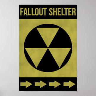 Muestra del refugio de polvillo radiactivo posters