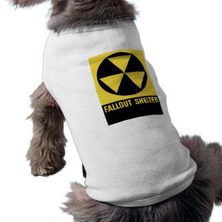 Muestra del refugio de polvillo radiactivo ropa de perro