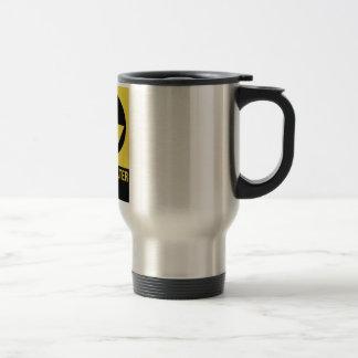 Muestra del refugio de polvillo radiactivo taza de café