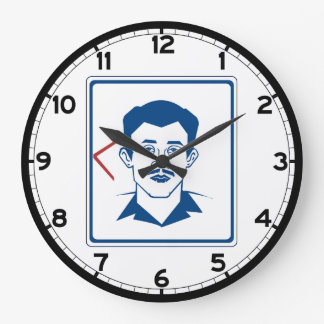 Muestra del retrete de los hombres, Tailandia Reloj Redondo Grande