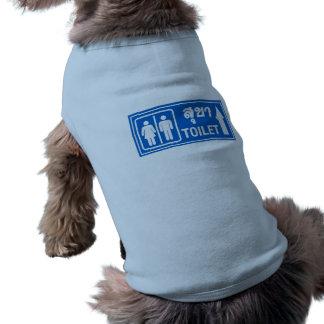 Muestra del retrete, Tailandia Camiseta Sin Mangas Para Perro