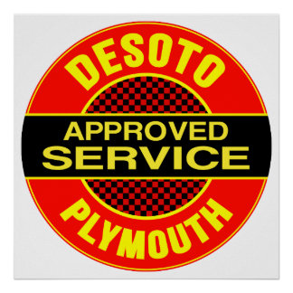 Muestra del servicio de DeSoto del vintage Impresiones