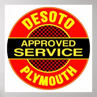 Muestra del servicio de DeSoto del vintage Póster
