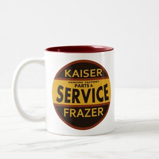 Muestra del servicio de Kaiser Frazer del vintage Taza
