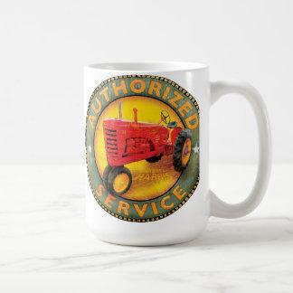 Muestra del servicio de los tractores de granja de taza clásica