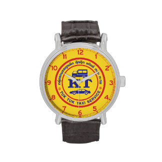 Muestra del servicio del taxi de Tuk Tuk, Relojes De Mano