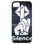 Muestra del silencio en la cubierta iPhone 5 Case-Mate funda
