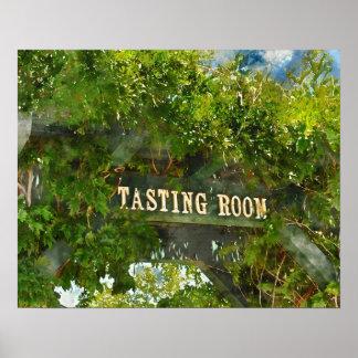 Muestra del sitio de degustación de vinos póster