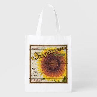 Muestra del soporte de la granja del vintage, bolsas reutilizables