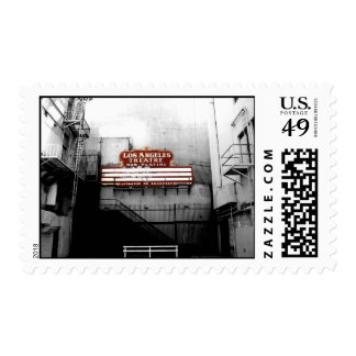 Muestra del teatro de Los Ángeles del vintage Timbre Postal
