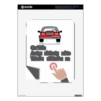 Muestra del tecleo del documento del coche iPad 3 skins