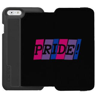 Muestra del texto del orgullo del Bisexuality Funda Billetera Para iPhone 6 Watson