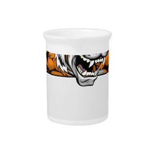 Muestra del tigre jarrones