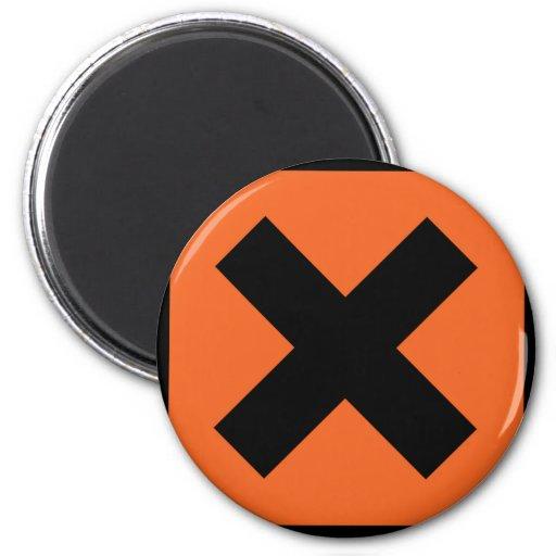 muestra del tóxico del químico x iman para frigorífico
