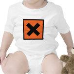 muestra del tóxico del químico x traje de bebé