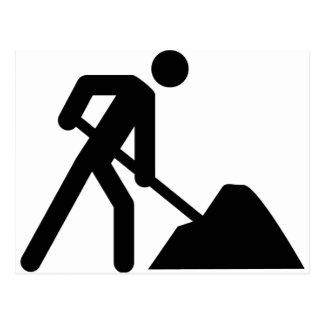 muestra del trabajador de construcción postal