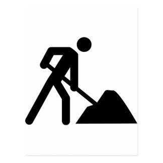 muestra del trabajador de construcción tarjetas postales