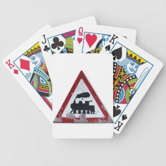 Muestra del tren del vintage cartas de juego