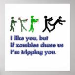 Muestra del viaje de los zombis impresiones