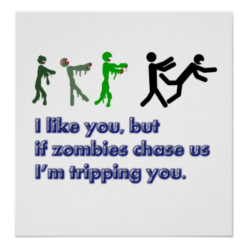 Muestra del viaje de los zombis póster