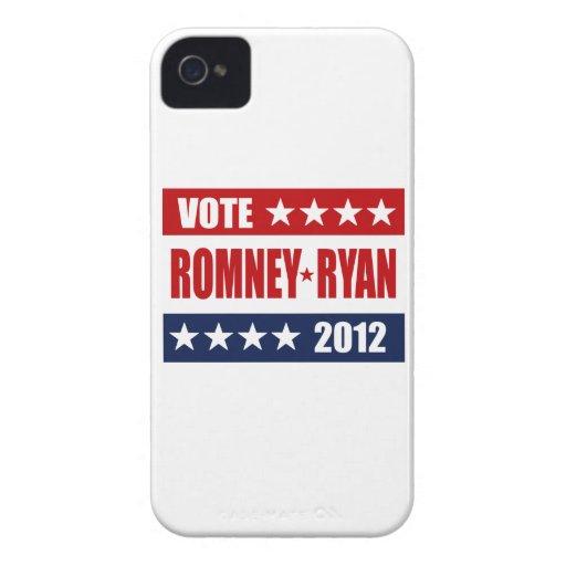 MUESTRA DEL VOTO ROMNEY RYAN 2012 Case-Mate iPhone 4 FUNDA