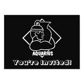 Muestra del zodiaco de la astrología del acuario anuncio