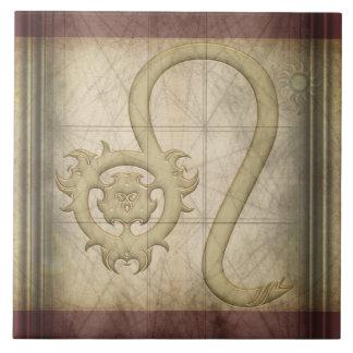 Muestra del zodiaco de Leo Azulejo Cuadrado Grande