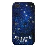 Muestra del zodiaco de LEO - el iPhone 4 ofreció l iPhone 4/4S Carcasa