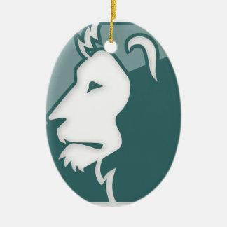 Muestra del zodiaco de Leo Ornamentos De Navidad